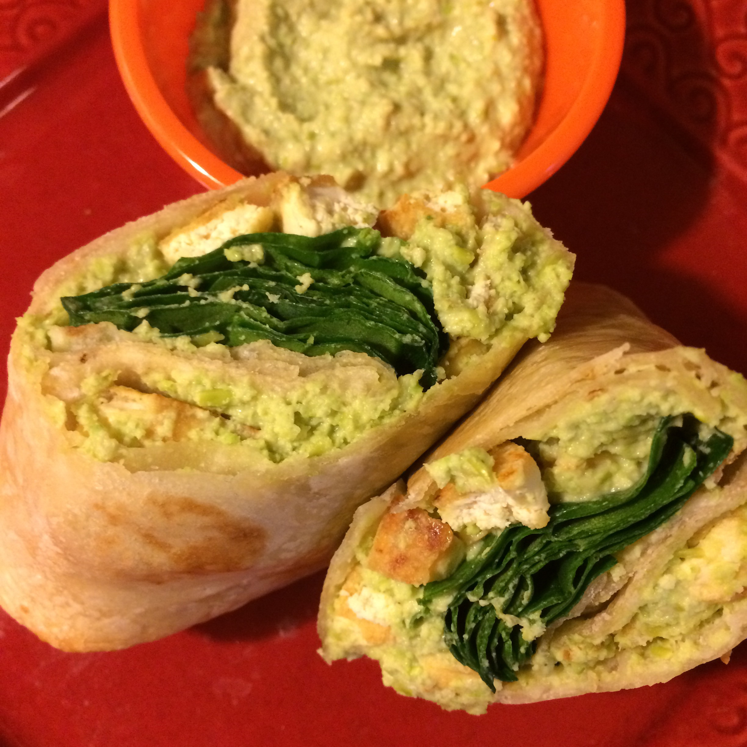 Tofu and Edamame Hummus Wraps | the traveling bean